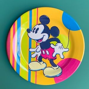 "Mickey Mouse 10""inch Melamine Dinnerware Plate"